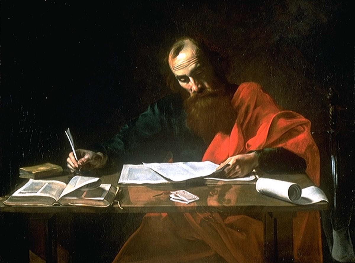 São Paulo escrevendo suas Epístolas