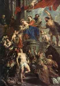 Communo Sanctorum, uma Irmandade de Santos - por Peter Paul Rubens - Igreja de S. Augustinus , Antuérpia