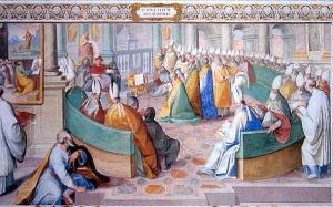 Pintura: Concilio de Nicea - Capela Sistina