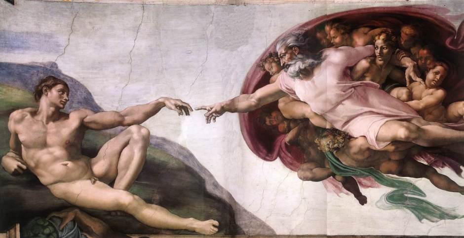 Michelangelo Buon Narroti - Criaçao de Adão