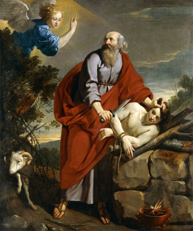 The Sacrifice of Isaac, (oil on canvas)